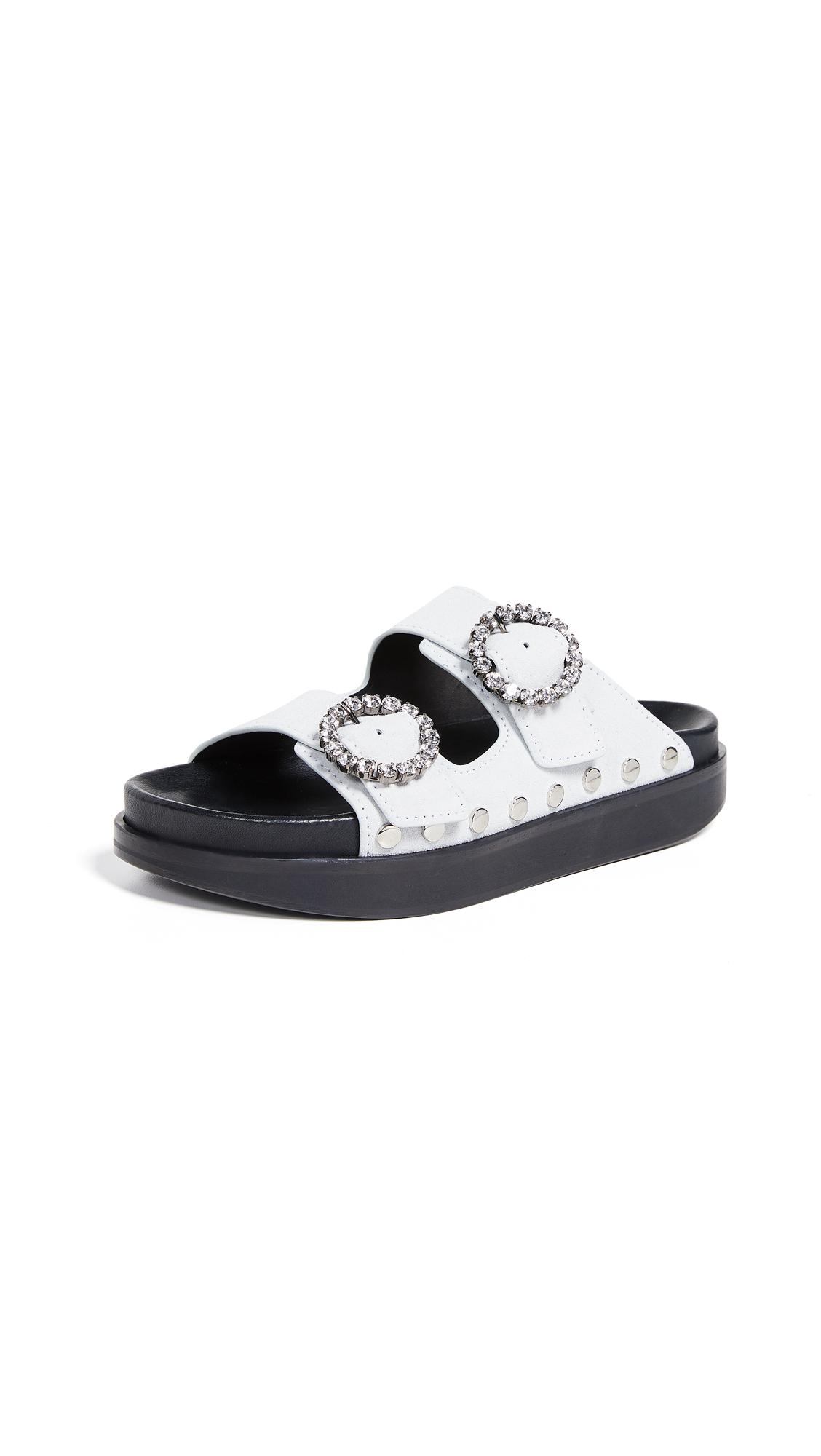 Isabel Marant Noddi Suede Sandals - White