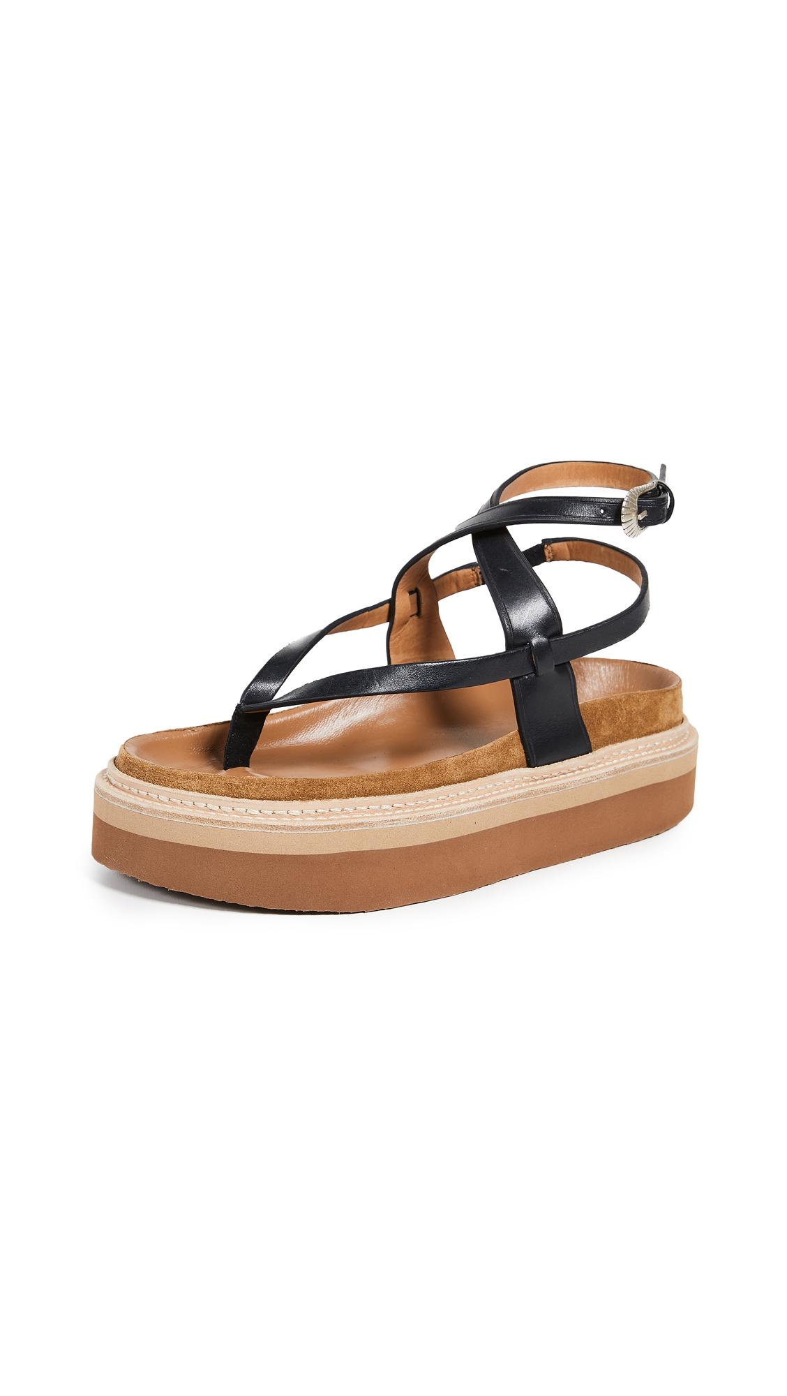 Isabel Marant Esely Platform Sandals - Black