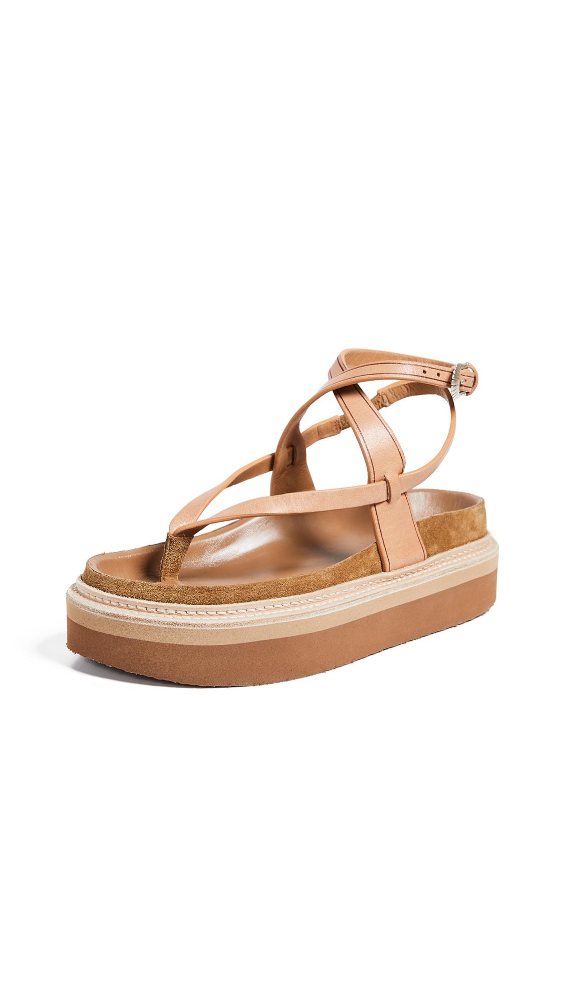 Isabel Marant Esely Platform Sandals - Brown