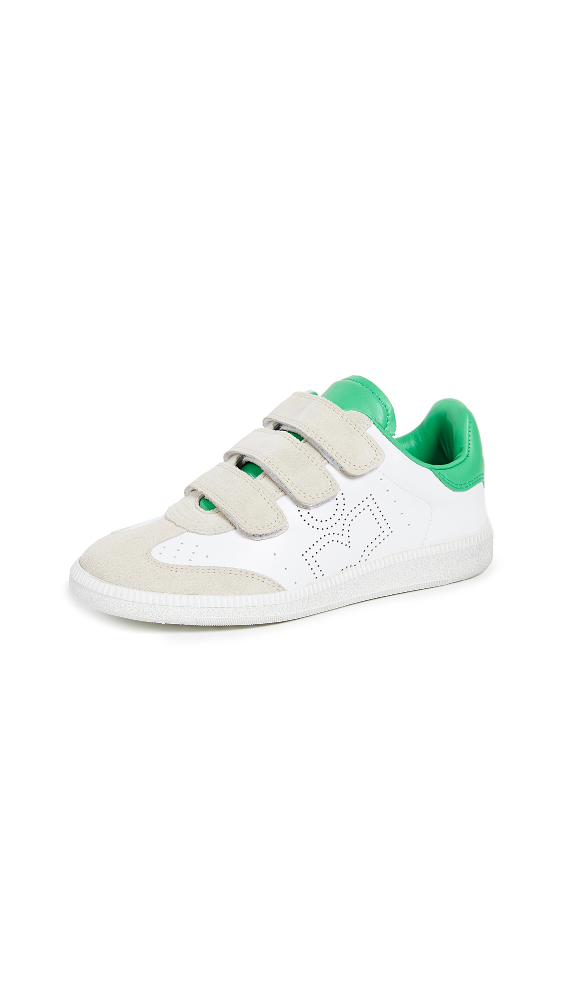 Isabel Marant Beth Velcro Sneakers - Green