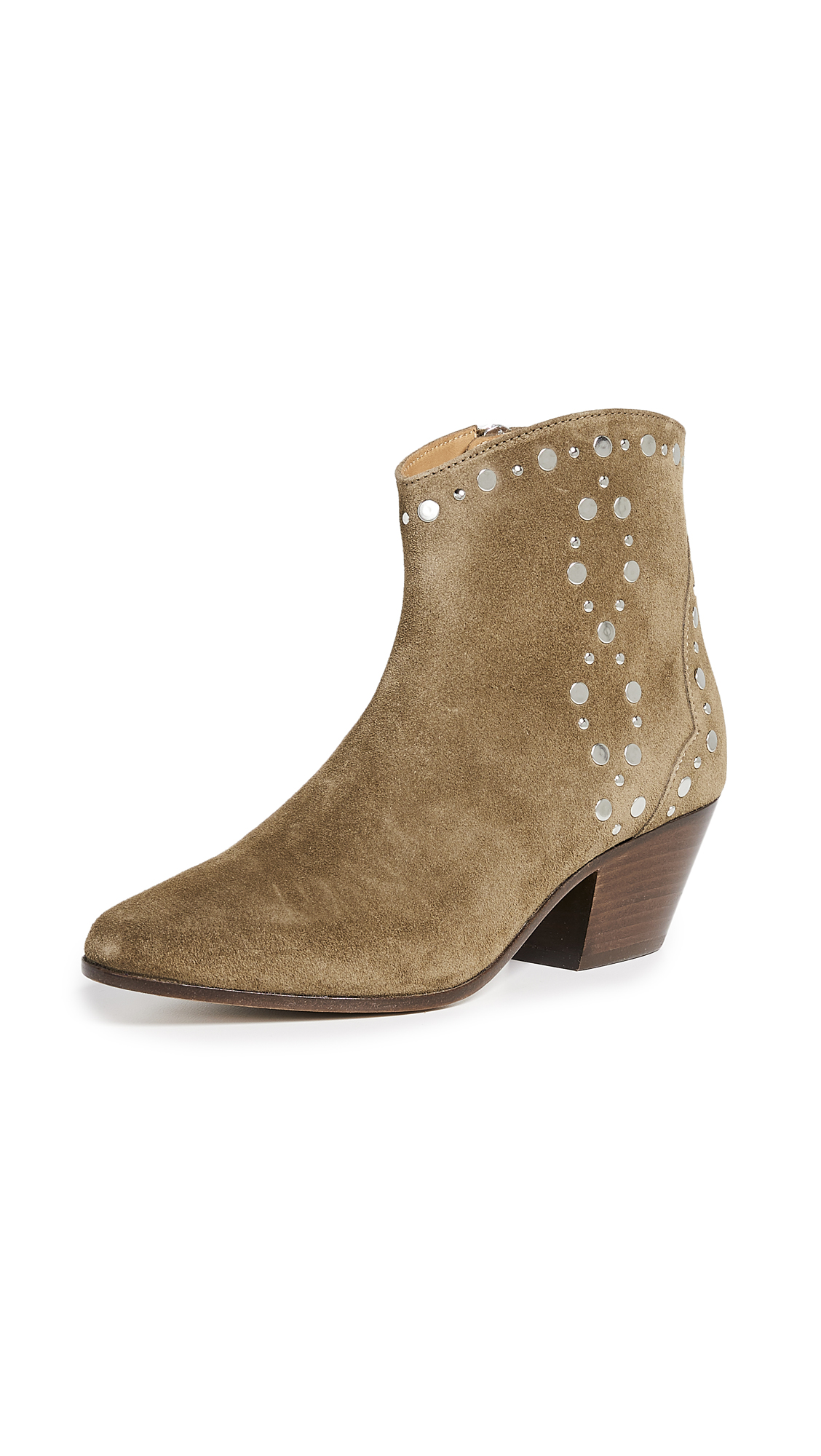 Isabel Marant Dacken Booties - Taupe