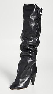 Isabel Marant Lacine 褶皱靴子