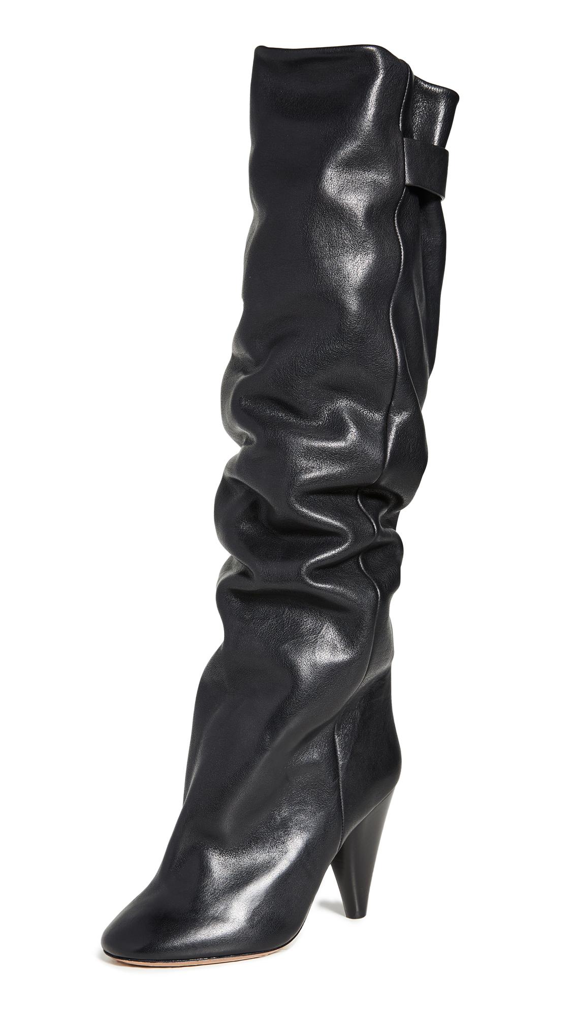 Isabel Marant Lacine Wrinkled Boots - 70% Off Sale