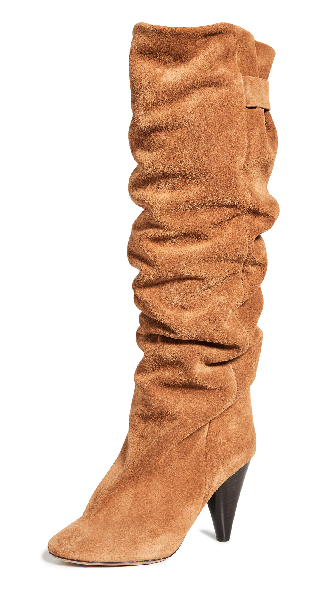 Buy Isabel Marant online - photo of Isabel Marant Lacine Velvet Wrinkled Boots