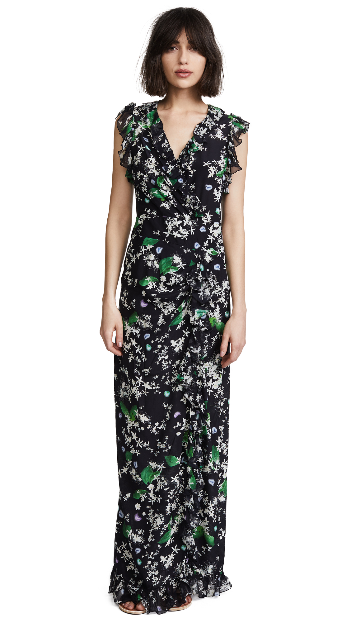 Isolda Georgina Dress In Black Daisy