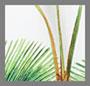 белый принт в виде пальм