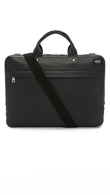 Jack Spade Mason Leather Slim Briefcase
