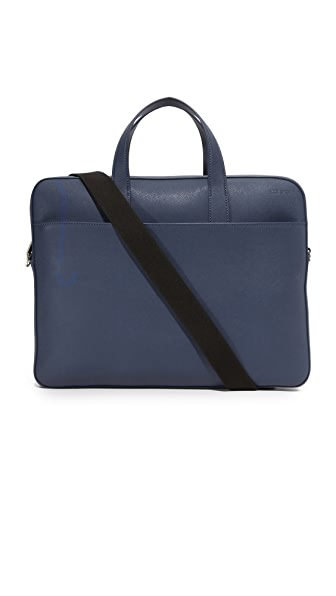 Jack Spade Barrow Leather Slim Briefcase