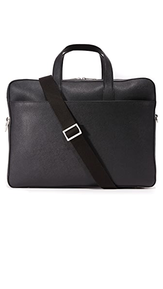 Jack Spade Barrow Leather Travel Briefcase