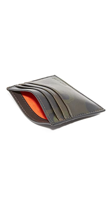 Jack Spade Camo Leather 6 Card Holder