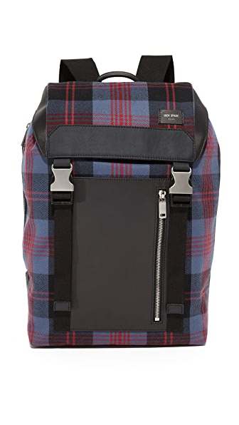 Jack Spade Plaid Army Backpack