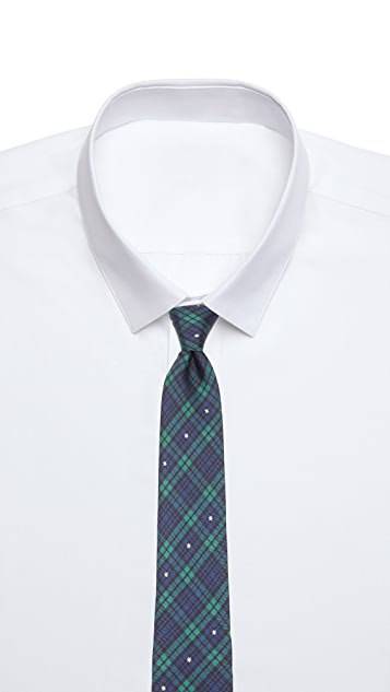 Jack Spade Plaid Snowflake Tie