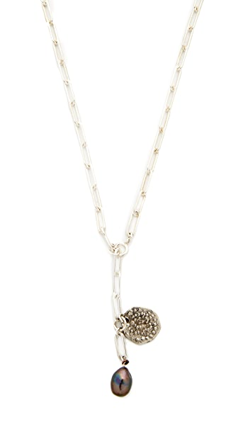 Jacqueline Rose Relic Coin Link Necklace - Silver
