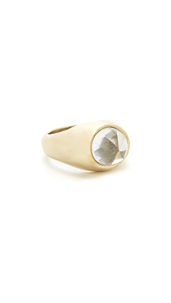 Jacqueline Rose Signet Ring - Crystal Quartz/Bronze