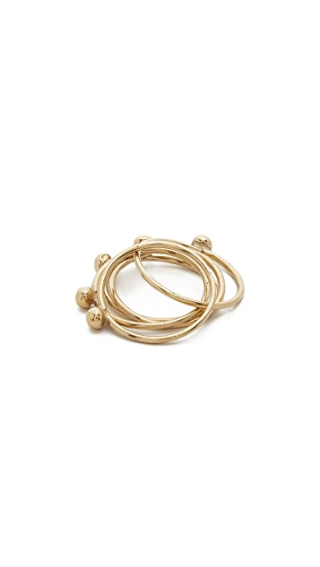 Jacqueline Rose Orb Stack Rings
