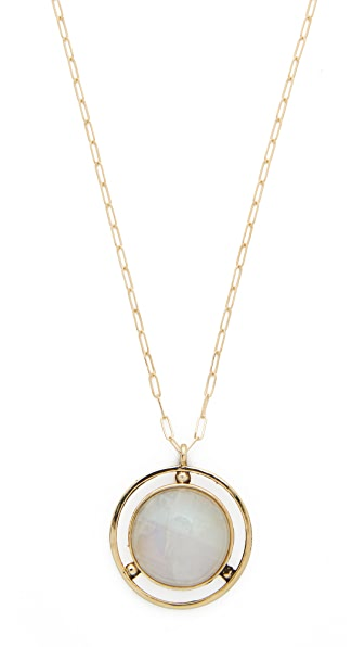 Jacqueline Rose Amulet Moonstone Pendant Necklace In Moonstone/Bronze
