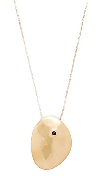 Jacqueline Rose Cirque Pendant Necklace In Black Pearl/Bronze