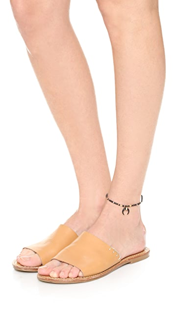 Jacquie Aiche JA Black Double Horn Beaded Anklet