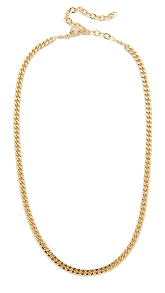 Jacquie Aiche JA Flat Chain Necklace - Gold