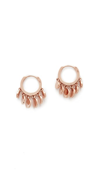 Jacquie Aiche 14k Rose Gold Mini Disco Shaker Hoop Earrings