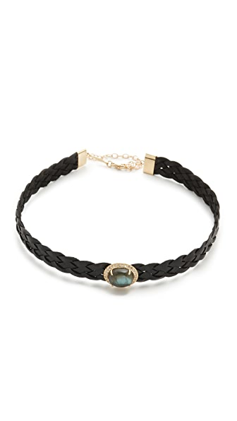 Jacquie Aiche Pave Dome 5 Braid Choker Necklace