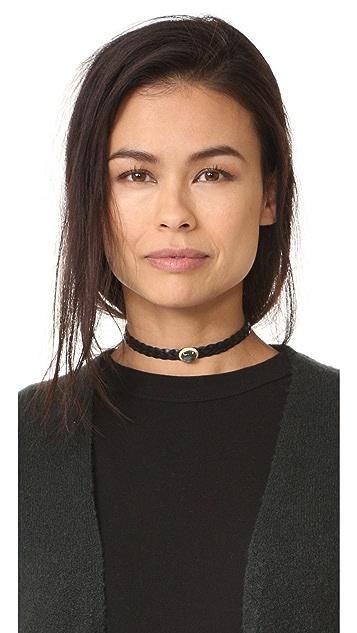 Jacquie Aiche Pave Dome 5 Braid Choker Necklace