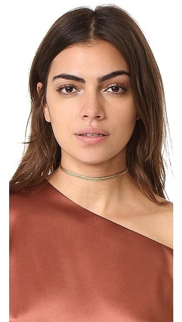 Jacquie Aiche JA Flat Chain Choker Necklace