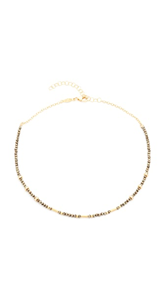 Jacquie Aiche JA Pyrite Beaded Necklace