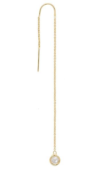 Jacquie Aiche JA Bezel Threader Earring