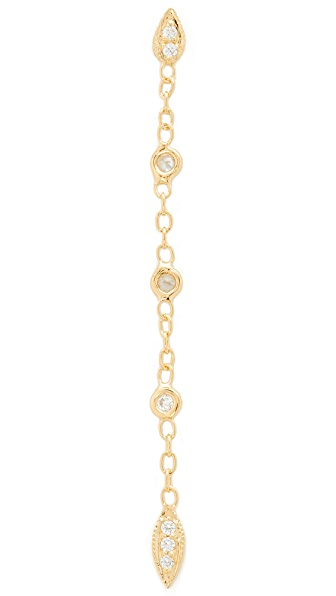 Jacquie Aiche JA Tinkerbell Earring - Gold/Clear