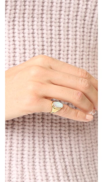 Jacquie Aiche JA Oval Opal Signet Ring