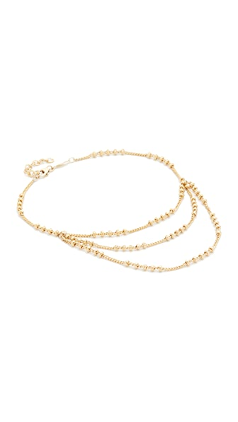 Jacquie Aiche Trio Beaded Anklet - Gold
