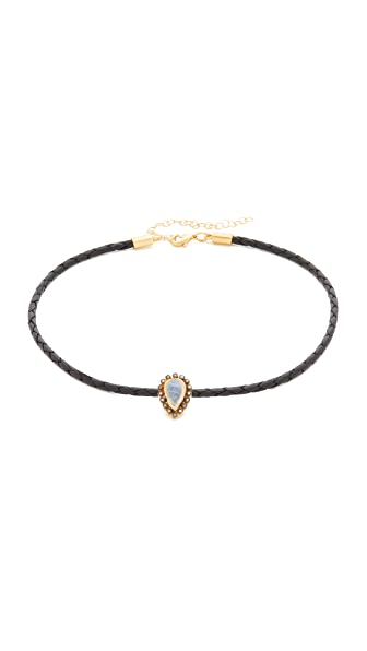 Jacquie Aiche Moonstone Braided Choker Necklace