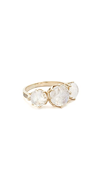Jacquie Aiche 3 Round Moonstone Ring