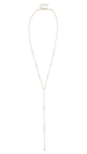 Jacquie Aiche 14k Gold 10 Diamond Y Necklace