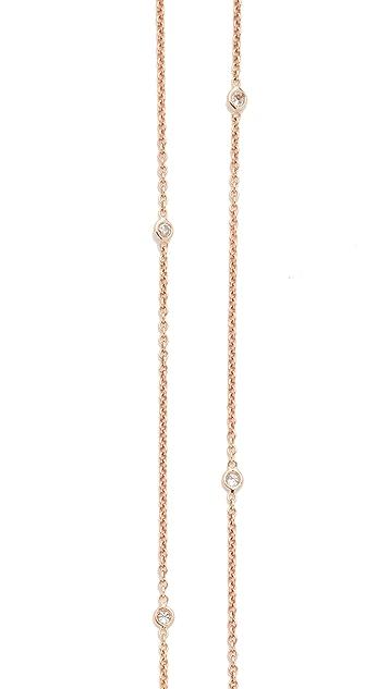 Jacquie Aiche 14k Rose Gold 10 Diamond Belly Chain