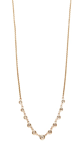 Jacquie Aiche 14k Gold 11 Diamond Emily Necklace - Gold/Clear