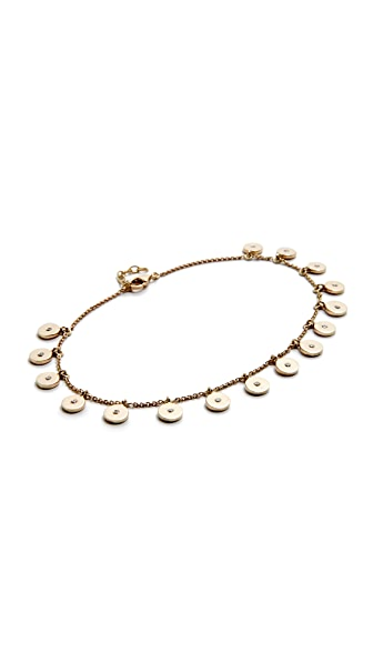 Jacquie Aiche Diamond Confetti Disc Anklet - Gold/Clear