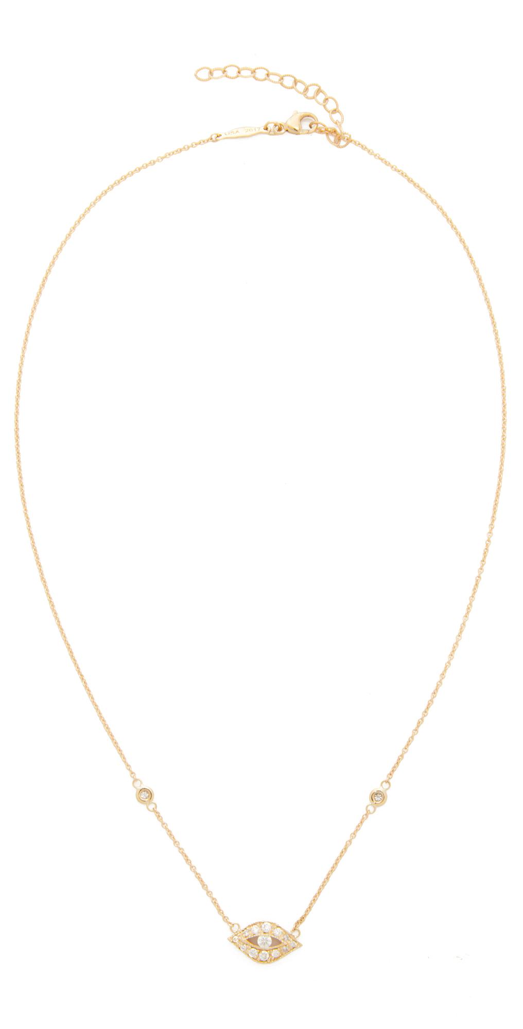 Jacquie Aiche Diamond Eye Pendant Necklace