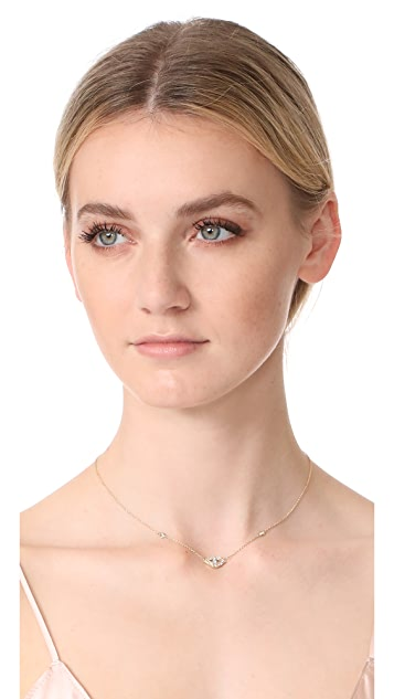Jacquie Aiche Diamond Eye Pendant Necklace
