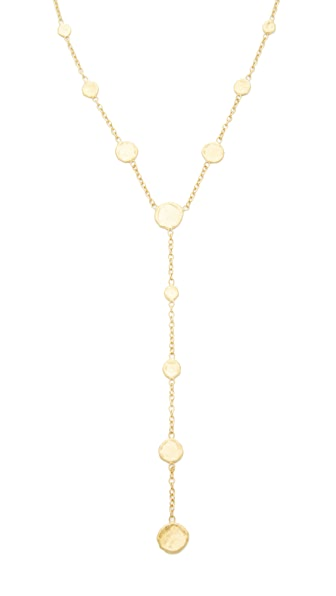 Jacquie Aiche Hammered Disc Y Necklace