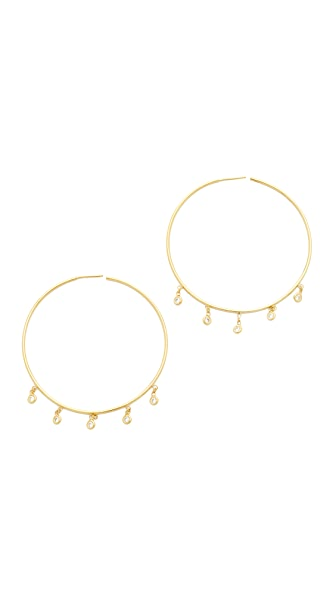 Jacquie Aiche Shaker Hoop Earrings - Gold