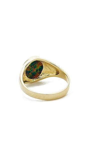 Jacquie Aiche Opal Signet Ring
