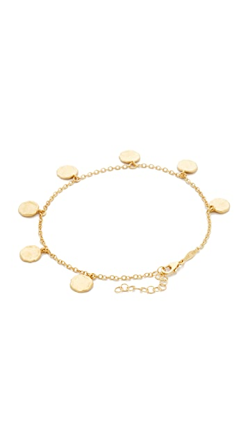 Jacquie Aiche Hammered Disc Anklet
