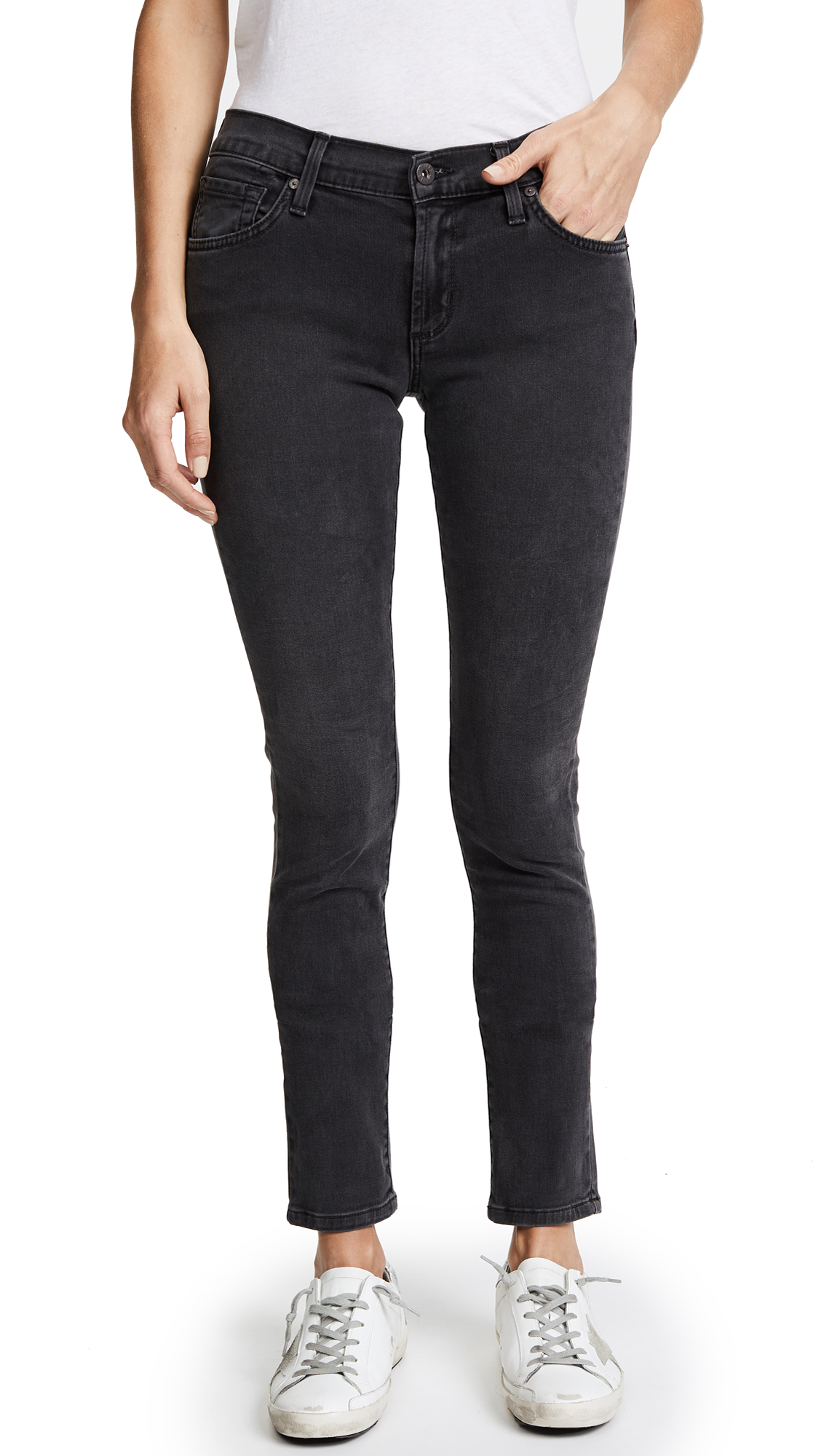 James Jeans Twiggy 5 Pocket Skinny Jeans In Slate Ii