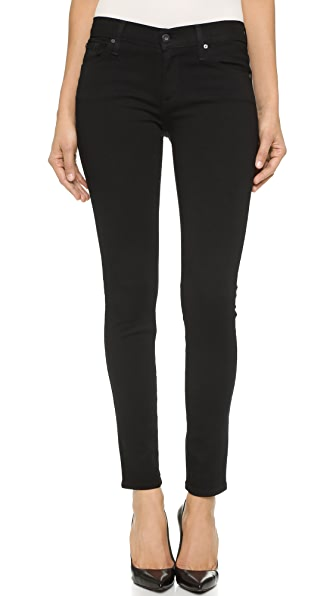 James Jeans Twiggy 5 Pocket Skinny Jeans - Black Clean