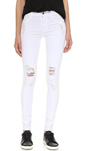 James Jeans Twiggy Ultra Flex Legging Jeans In White Clean Distressed