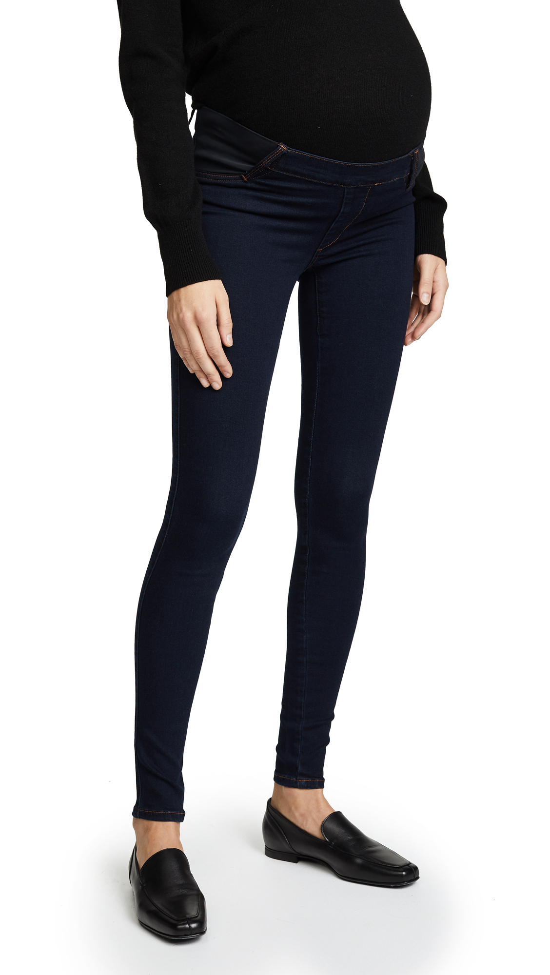 James Jeans Twiggy Maternity Under Belly Pull On Jeans In Blue Velvet
