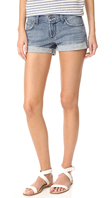 James Jeans Rolled Hem Baggy Boyfriend Shorts