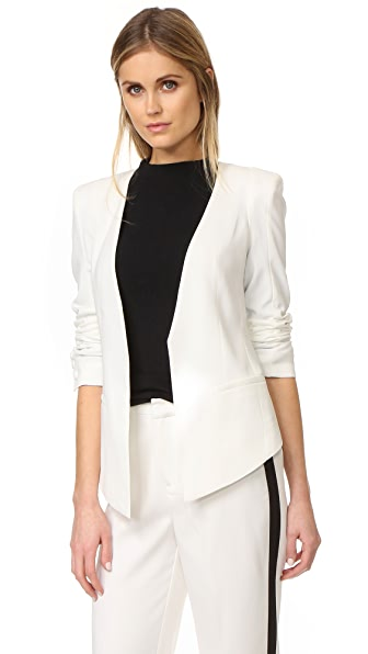 James Jeans Boyfriend Blazer - Pearl White